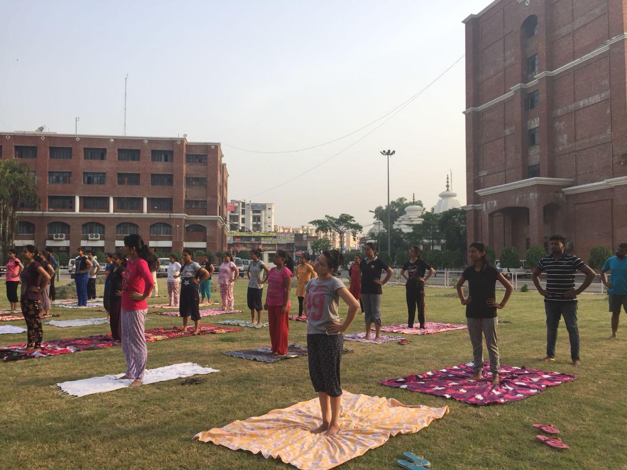 Yoga Day at BBDU