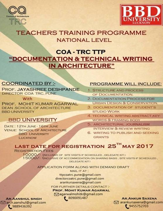 Teacher's Training Programme