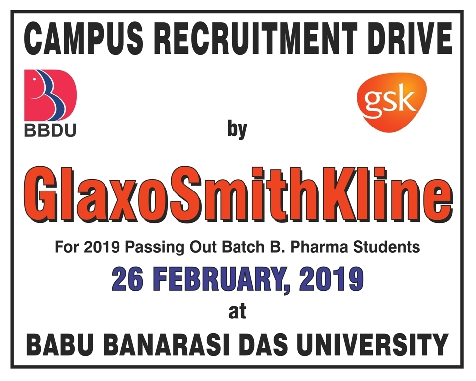 Campus Placement Drive of GlaxoSmithKline for B Pharma